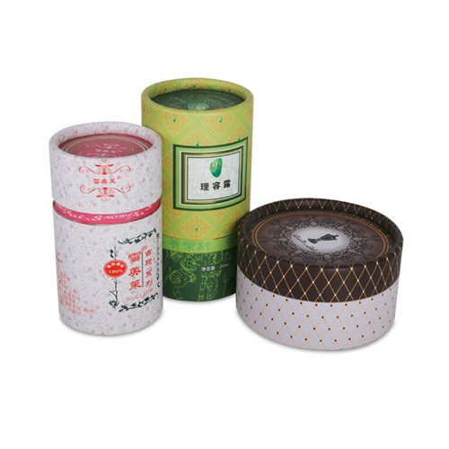 Custom Paper Cardboard Cylinder Packaging Box with Lid