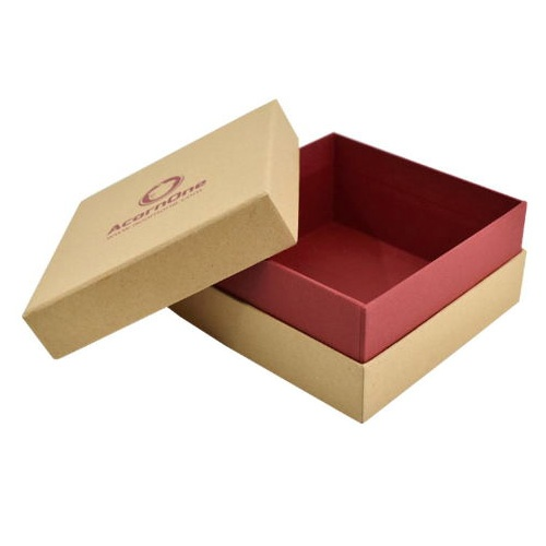 China Custom Separate Lid Brown Rigid Paper Board Gift Packing Box