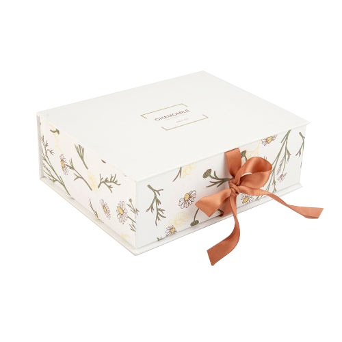 Custom Matte Laminated Book-type Gift Box with Ribbon