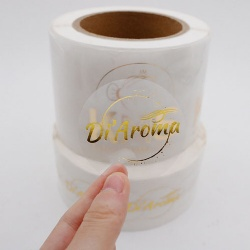 Foil Stamping Logo Transparent BOPP Adhesive Label Sticker