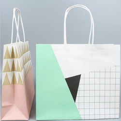 bleached white craft paper bag for clothes packing
