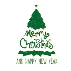 Merry Christmas Glass Window Decoration Stickers