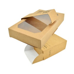 China Custom Craft Paper Box with Clear PET Plastic Window