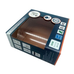 Gloss Varnishing Corrugated Paper Packaging Box with Transparent Window